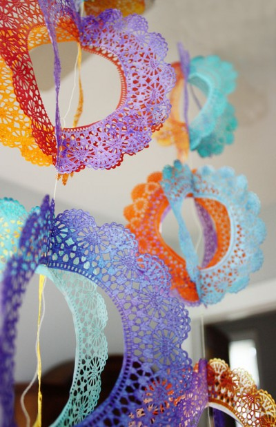 Rainbow Doily Spinners Fun Family Crafts