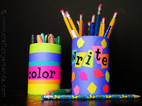 Back to school pencil holders fun family crafts Cool pencil holder ideas