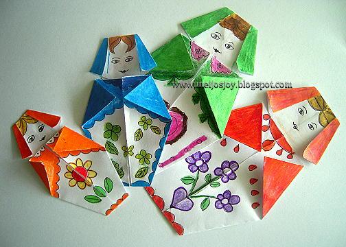 Origami Babushka Doll