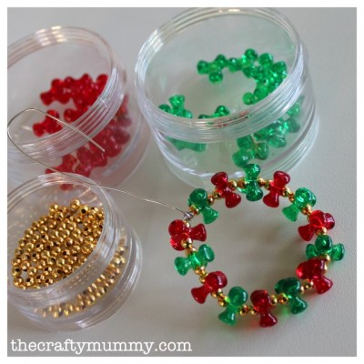 Beaded wreath fun family crafts for Bead craft ideas for kids