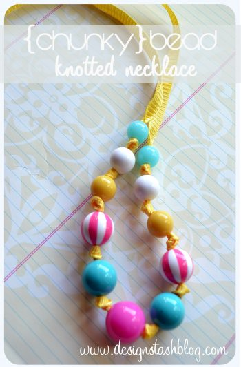 Chunky Bead Knotted Necklace
