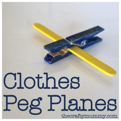 Clothes Peg Planes