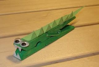 Clothespin Alligator