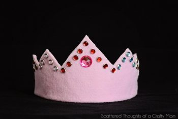 Jeweled Felt Crown