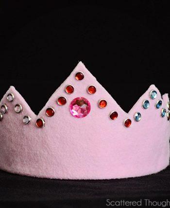 Jeweled Felt Crown