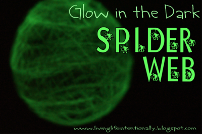 Glow in the Dark Spider Web