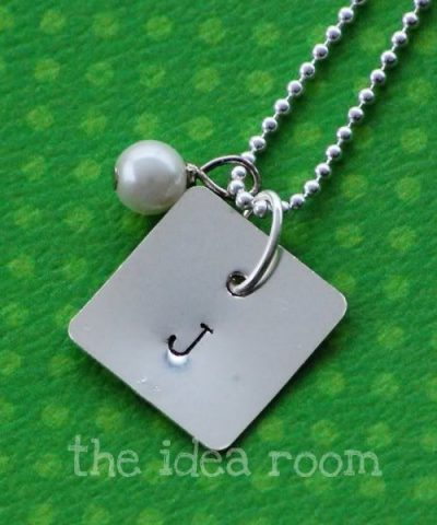 Stamped Initial Necklaces