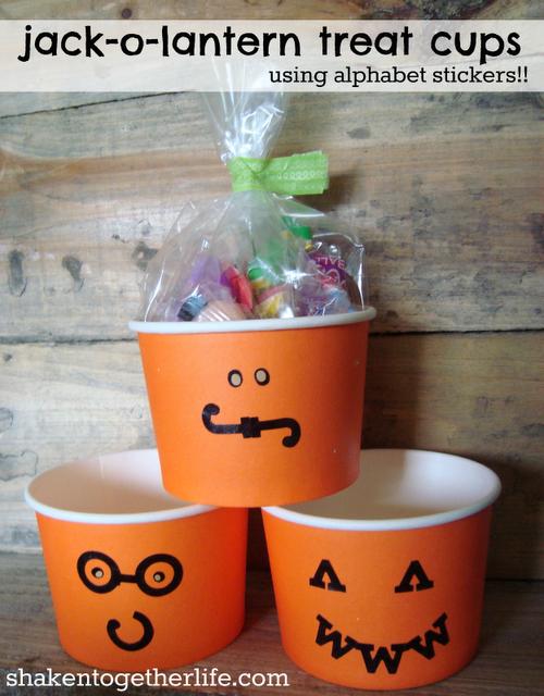 Alphabet Jack O' Lantern Cups