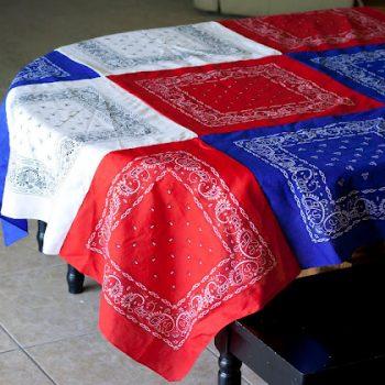 Patriotic Bandana Tablecloth