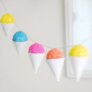Faux Snow Cone Garland