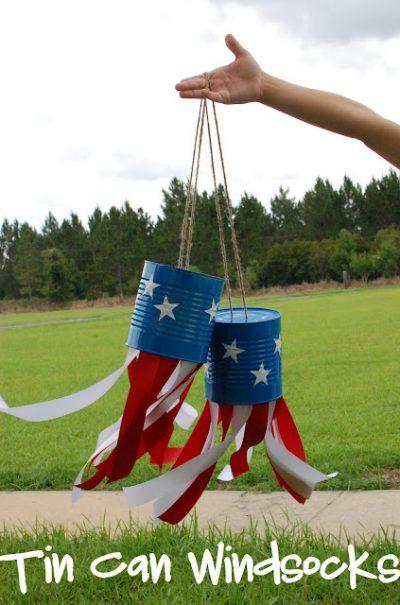 Patriotic Can Wind Sock