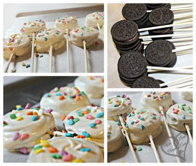 Sprinkled Oreo Pops