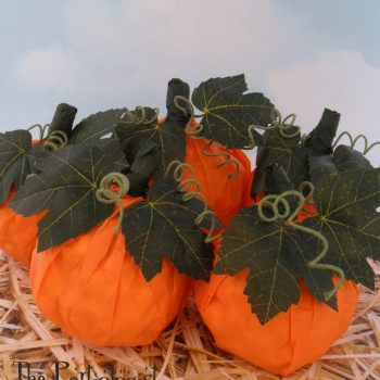 Popcorn Ball Pumpkins