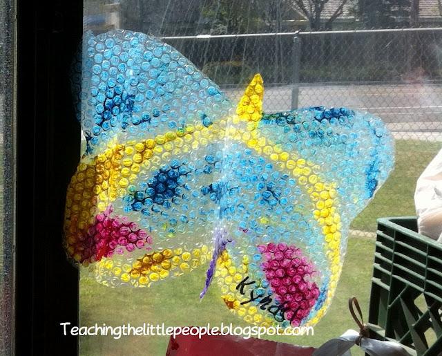 Bubble Wrap Butterflies