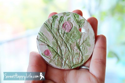Clay Plant Impressions Fun Family Crafts