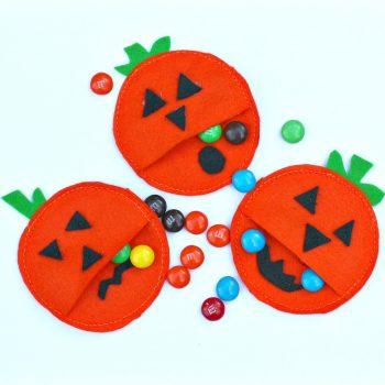Felt Pumpkin Candy Pockets