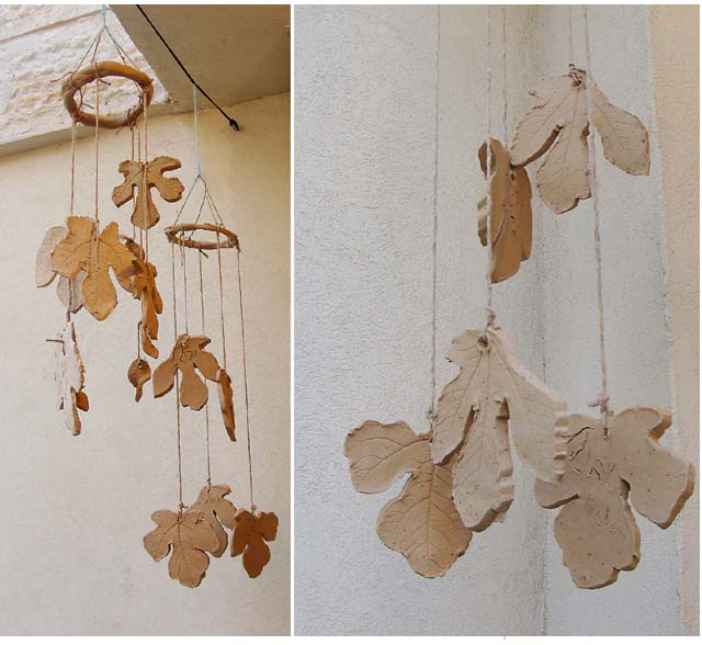 Clay Leaf Windchime