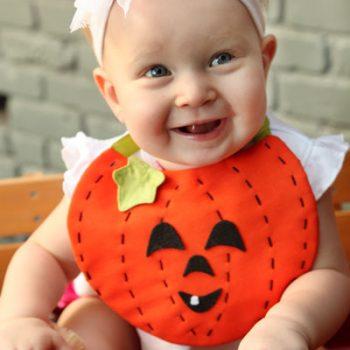 Pumpkin Baby Bib