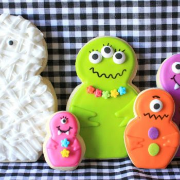 Mummy and Little Monsters Cookies