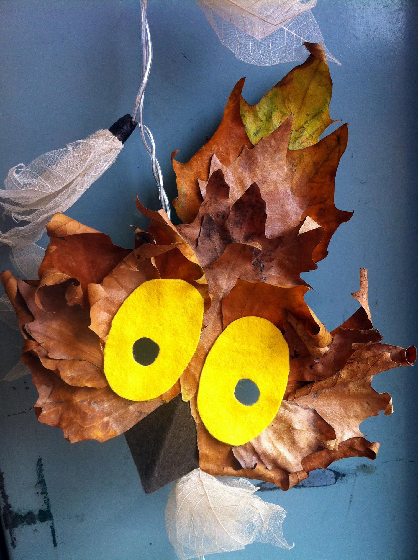 Поделка из листьев своими руками для детского сада