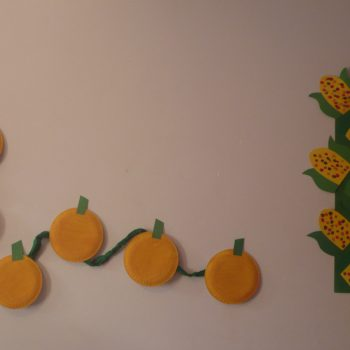 Paper Pumpkins and Corn