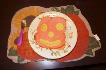 Jack O'Lantern Pancakes