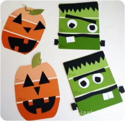 Paint Chip Halloween Craft