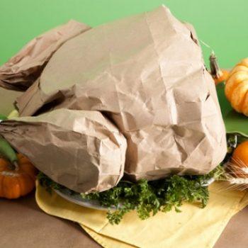 Paper Bag Popcorn Roast Turkey
