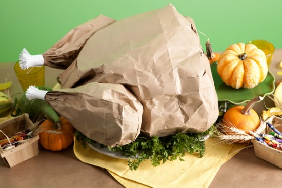 Paper Bag Popcorn Roast Turkey
