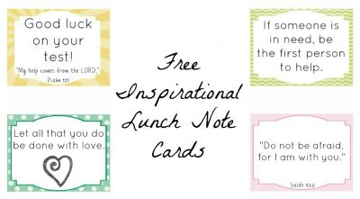 Inspirational Lunch Note Cards