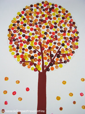 Polka Dot Fall Tree Fun Family Crafts