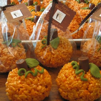 Pumpkin Rice Crispie Treats