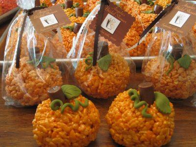 Pumpkin Rice Crispie Treats