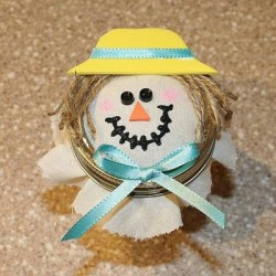 Scarecrow Candy Jar