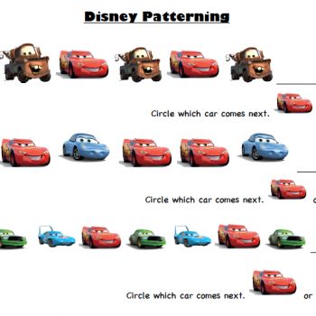 Disney-Pixar Cars Printable Activity Sheets