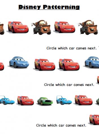 Disney-Pixar Cars Printable Activity Sheets