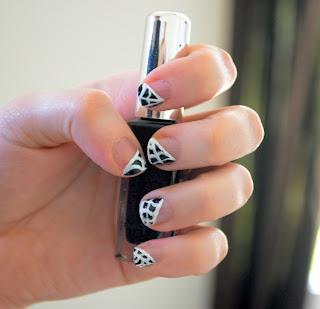 Spider Web Tip Nails