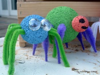 Styrofoam Ball Spiders