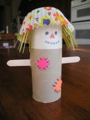 Cute Cardboard Tube Scarecrow