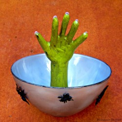 Creepy Hand Candy Bowl