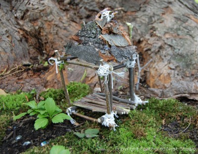 Fairy garden house fun family crafts - Houses made from natural materials ...