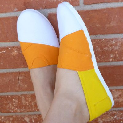 Candy Corn Canvas Shoes