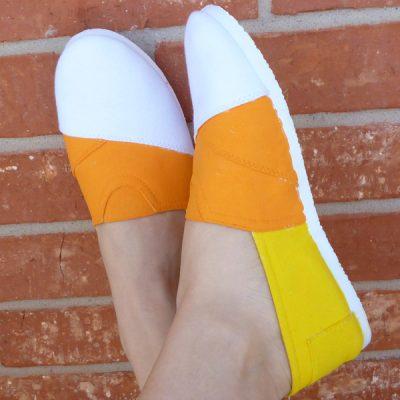 Candy Corn Canvas Shoes