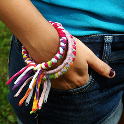 Bracelets from Recycled T-shirts