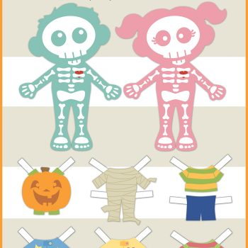 Skeleton Paper Dolls