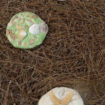 Salt Dough Garden Stone Keepsakes