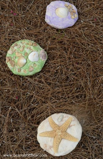 Salt Dough Garden Stone Keepsakes