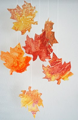 Melted Crayon Fall Leaves