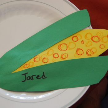 Feather and Corn Place Setting