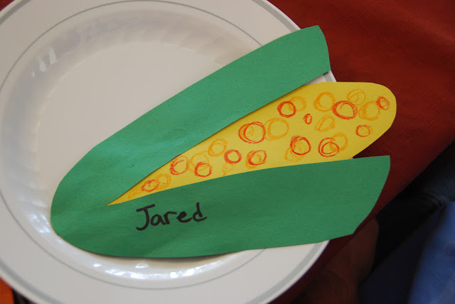 Feather & Corn Place Setting